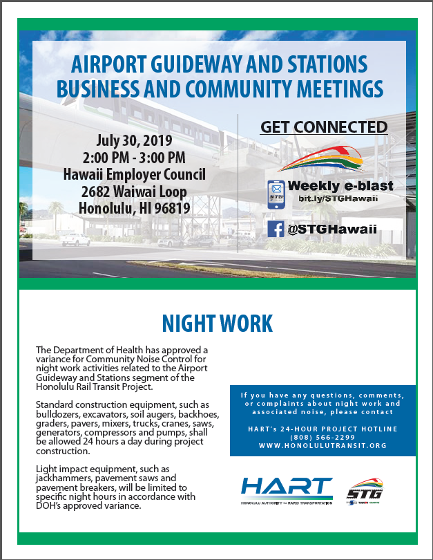 HART Aiport Guidewats and Stations Business and Community Meetings_Hawaii Employer Council